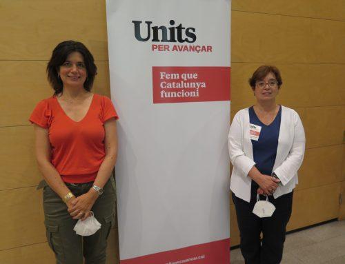 Els gironins Núria Gómez, Montse Surroca i Eduard Conde, membres del nou Comitè Directiu d'Units per Avançar